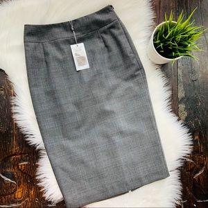 AUSTIN REED Gray Wool Pencil Skirt 6 NEW NWT
